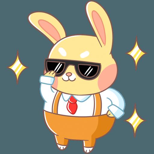 Fluffy Bun messages sticker-1