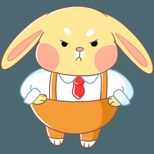 Fluffy Bun messages sticker-2