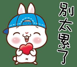 藍帽兔 messages sticker-3