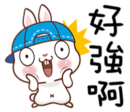 藍帽兔 messages sticker-10