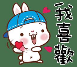 藍帽兔 messages sticker-7