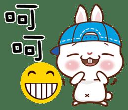 藍帽兔 messages sticker-1