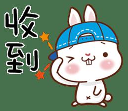 藍帽兔 messages sticker-0