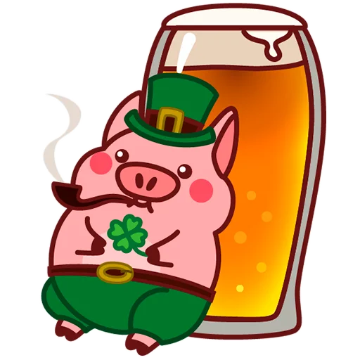 Selling cute little red pig messages sticker-10