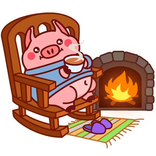 Selling cute little red pig messages sticker-4