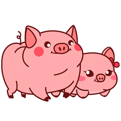 Selling cute little red pig messages sticker-0