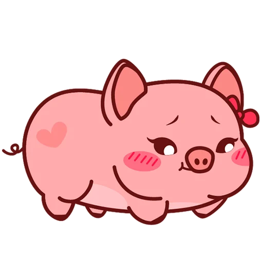 Selling cute little red pig messages sticker-8