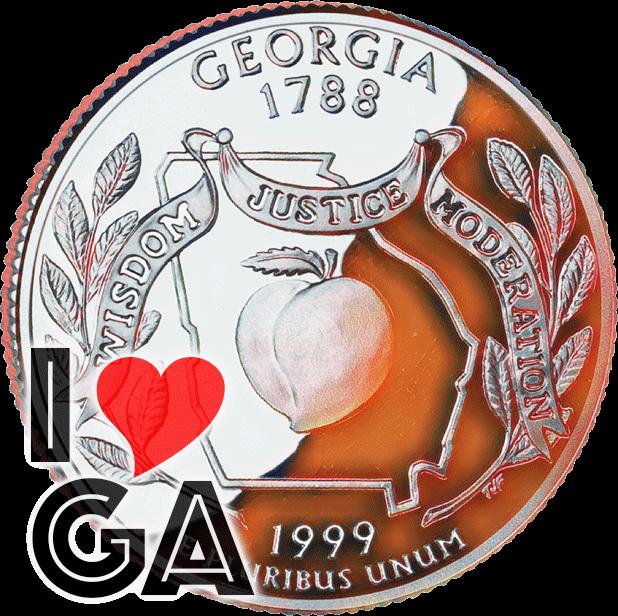 I Love Georgia messages sticker-0