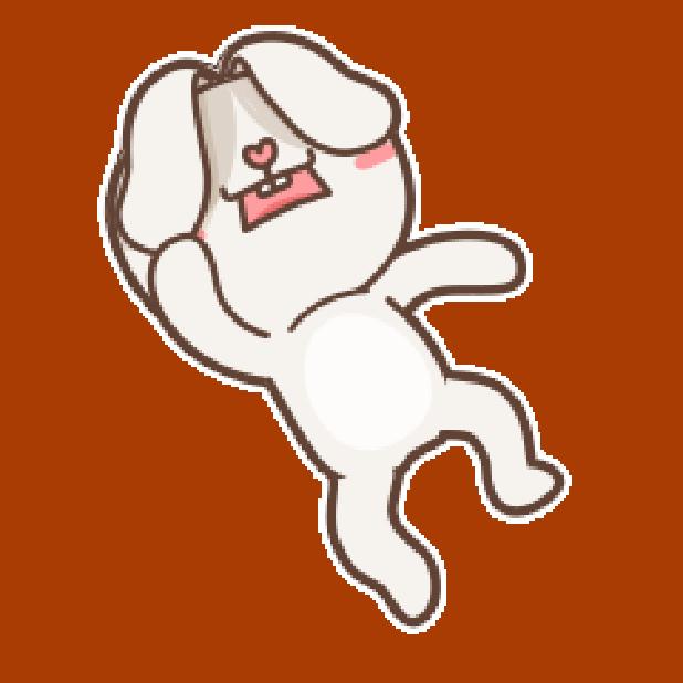 秃囧囧兔 messages sticker-8