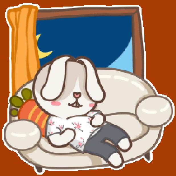 秃囧囧兔 messages sticker-7