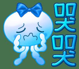 藍色水母 messages sticker-8