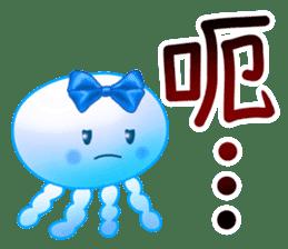藍色水母 messages sticker-5