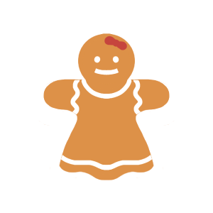 Holiday Gingerbread Stickers messages sticker-1