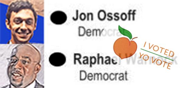 Georgia Senate Runoff messages sticker-3