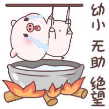 失落的粉猪 messages sticker-4