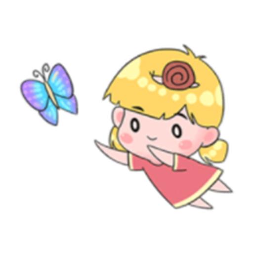 開心的蝸牛妹 messages sticker-2
