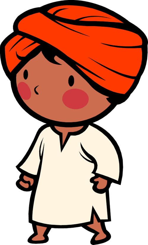 Indian style cartoon messages sticker-9