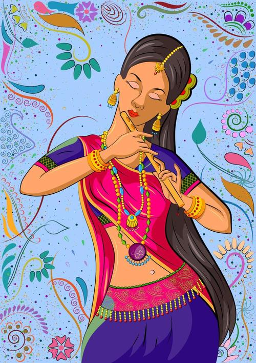 Indian style cartoon messages sticker-3