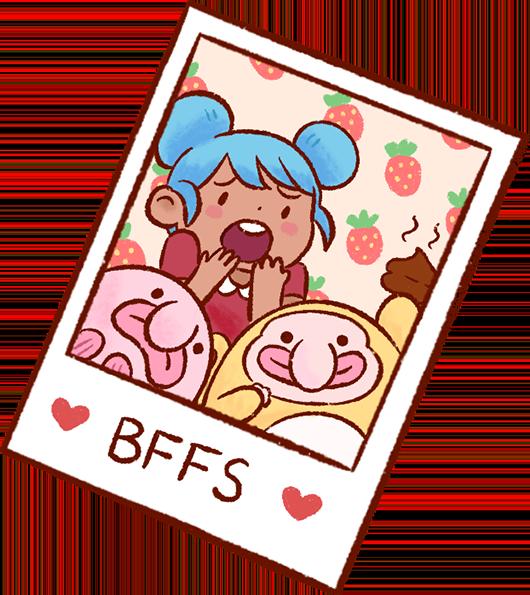 Blobby & Friends Stickers messages sticker-4