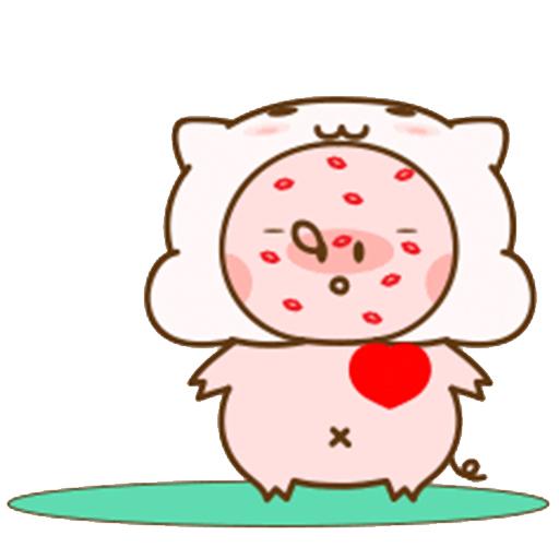 猪的爱情 messages sticker-9