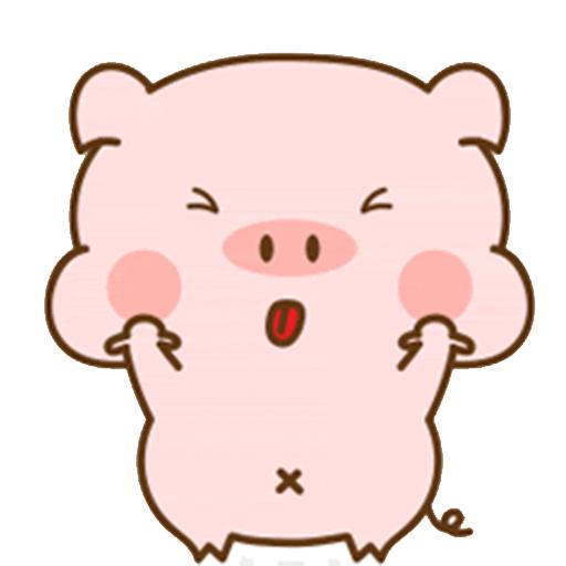 猪的爱情 messages sticker-0