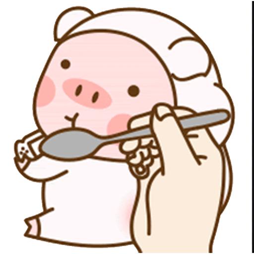 猪的爱情 messages sticker-2