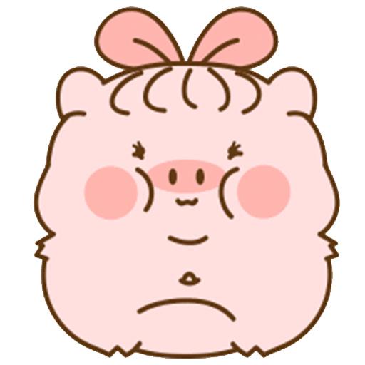 猪的爱情 messages sticker-1