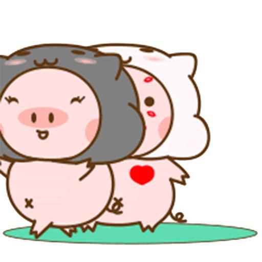 猪的爱情 messages sticker-3