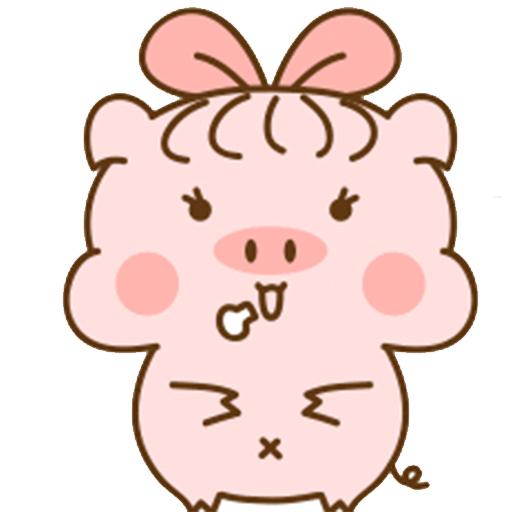 猪的爱情 messages sticker-11