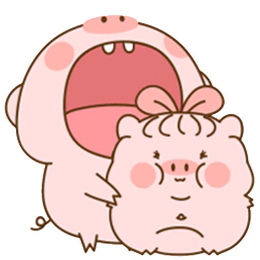 猪的爱情 messages sticker-7