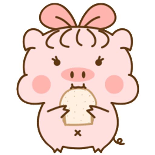 猪的爱情 messages sticker-4
