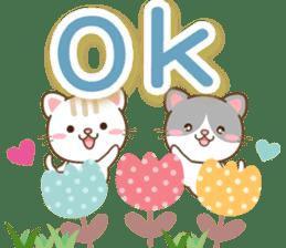 黑白貓 messages sticker-7