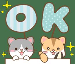 黑白貓 messages sticker-9