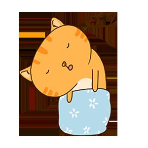 SummerCat-Orange messages sticker-3