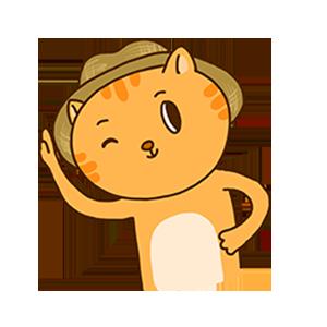 SummerCat-Orange messages sticker-11