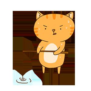 SummerCat-Orange messages sticker-8
