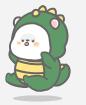 恐龙装懒熊 messages sticker-9