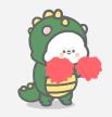 恐龙装懒熊 messages sticker-11