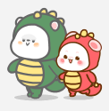 恐龙装懒熊 messages sticker-6