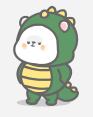 恐龙装懒熊 messages sticker-8