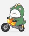 恐龙装懒熊 messages sticker-3