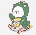 恐龙装懒熊 messages sticker-1