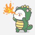 恐龙装懒熊 messages sticker-10