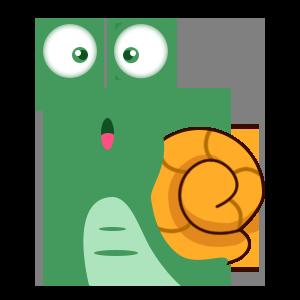 蜗牛快跑-表情包 messages sticker-8