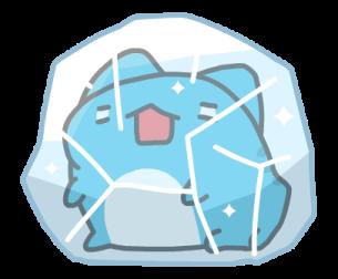 可愛的藍獸 messages sticker-11