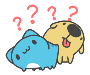 可愛的藍獸 messages sticker-1