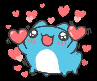 可愛的藍獸 messages sticker-3