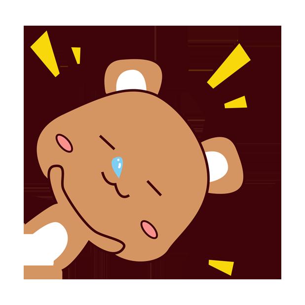 爱宠足迹1 - 小熊 messages sticker-5