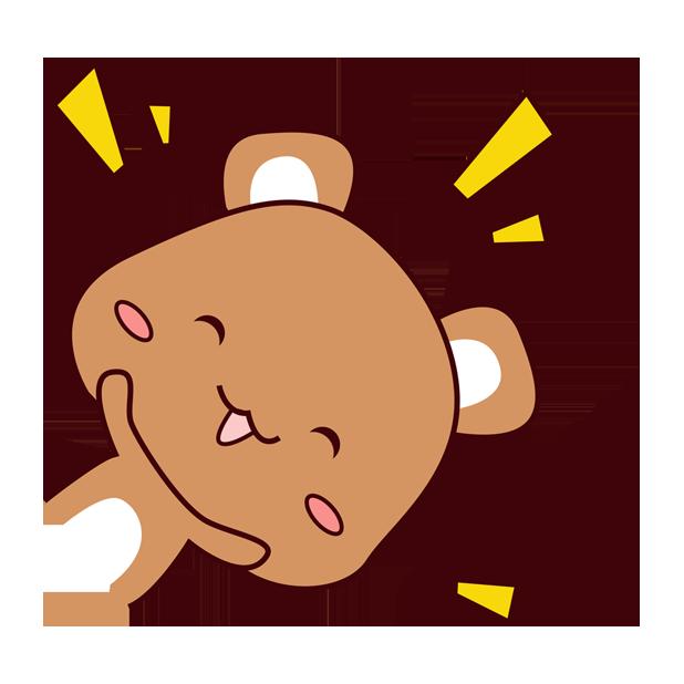 爱宠足迹1 - 小熊 messages sticker-0