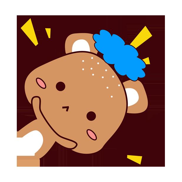 爱宠足迹1 - 小熊 messages sticker-6